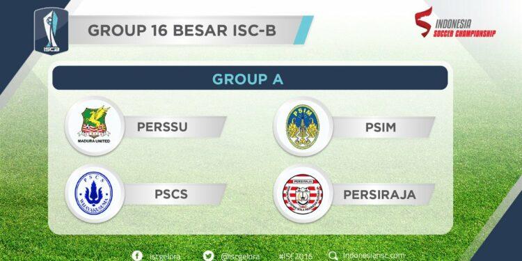 Persiraja berada di Grup A dalam babak 16 besar ISC B
