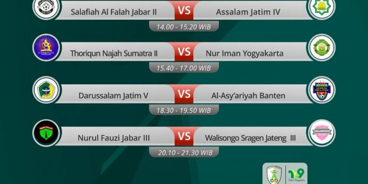 Desain grafis via twitter Liga Santri Nusantara