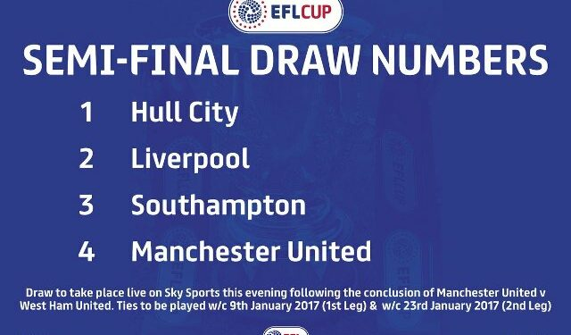 Empat finalis Piala Liga Inggris