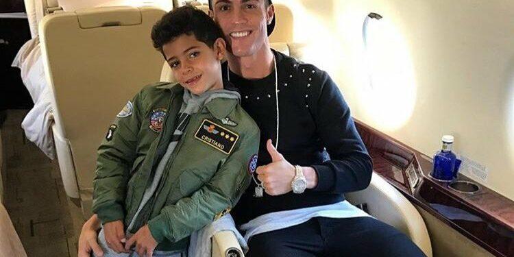 Cristiano Ronaldo dan Cristiano  Jr | Foto via Twitter