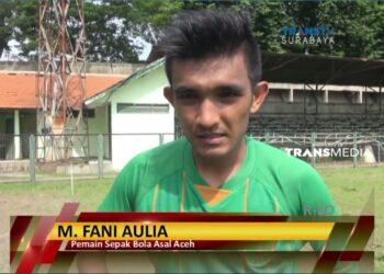 Fani Aulia saat diwawancarai televisi | Foto via facebook