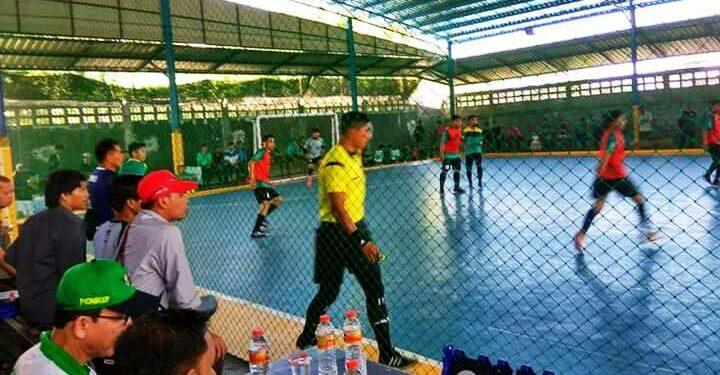 Ilustrasi pertandingan futsal