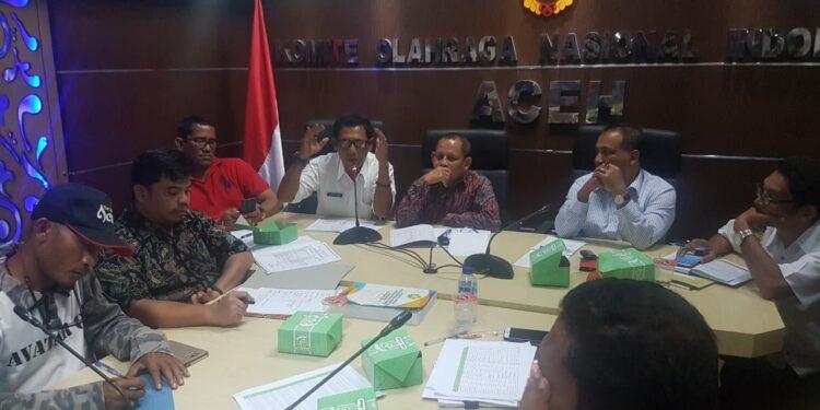 Rapat Panitia di KONI Aceh
