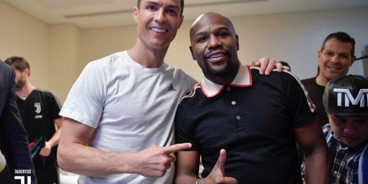 Ronaldo bersama Petinju Amerika Serikat Floyd Mayweather Jr