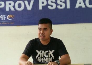 Sekum Asprov PSSI Aceh Nazaruddin | Photo Dirman