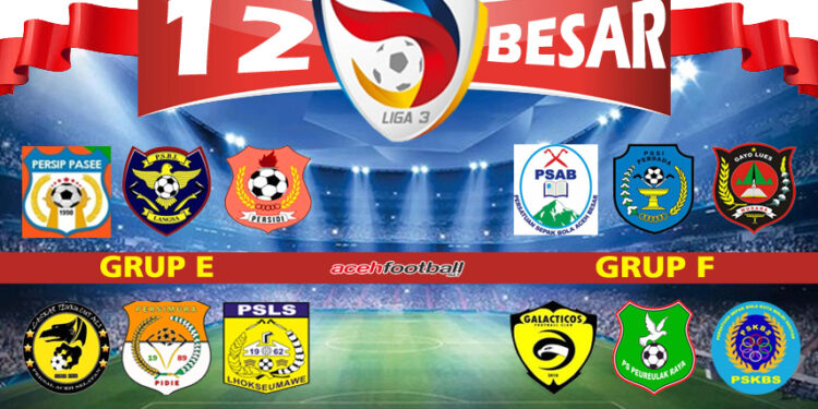 Babak 12 Besar Liga 3 Regional Aceh