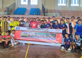 The first stage of selection is followed by 30 players from the Satoe Atjeh Academy from various districts / cities in Aceh | Committee photo