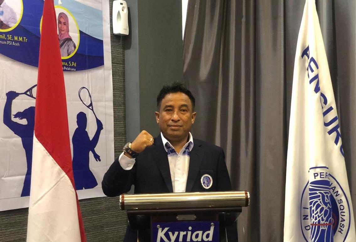 Husaini Jamil terpilih secara aklamasi pimpin Squash Aceh | Foto Istimewa
