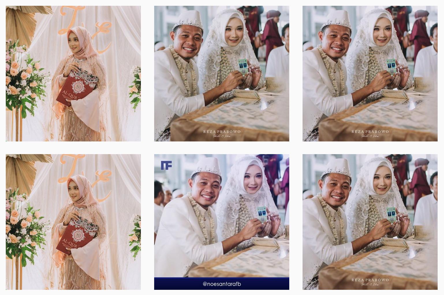 Kolase foto Evan Dimas menikah | Foto Instragram