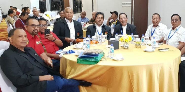 Ketua Harian KONI Aceh H Kamaruddin Abubakar di acara CdM di Sentani   Foto Istimewa