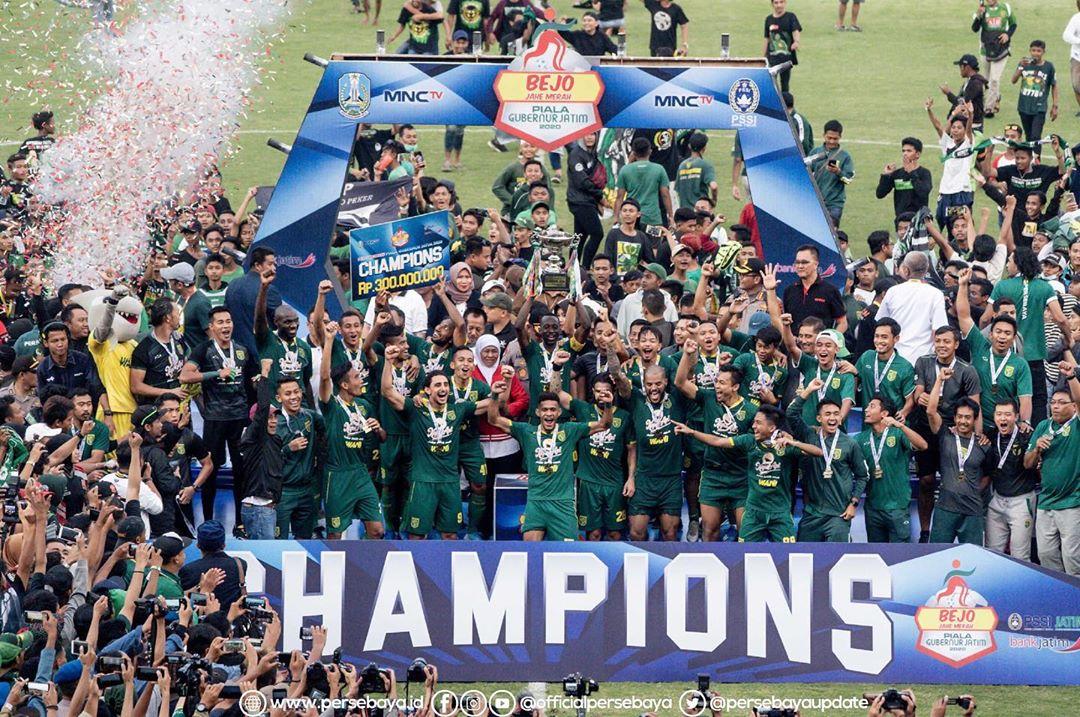 Persebaya juara Piala Gubernur Jatim 2020 | Foto Instagram