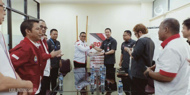 Jajaran PT LIB bertemu BOPI | Foto Dok LIB