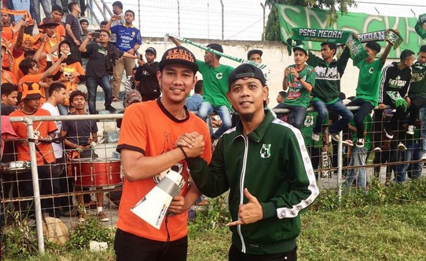 Superter Persiraja dan PSMS Medan; akur   Foto Skullers
