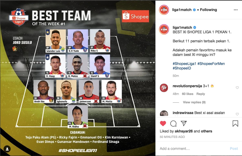 11 pemain terbaik versi Liga 1