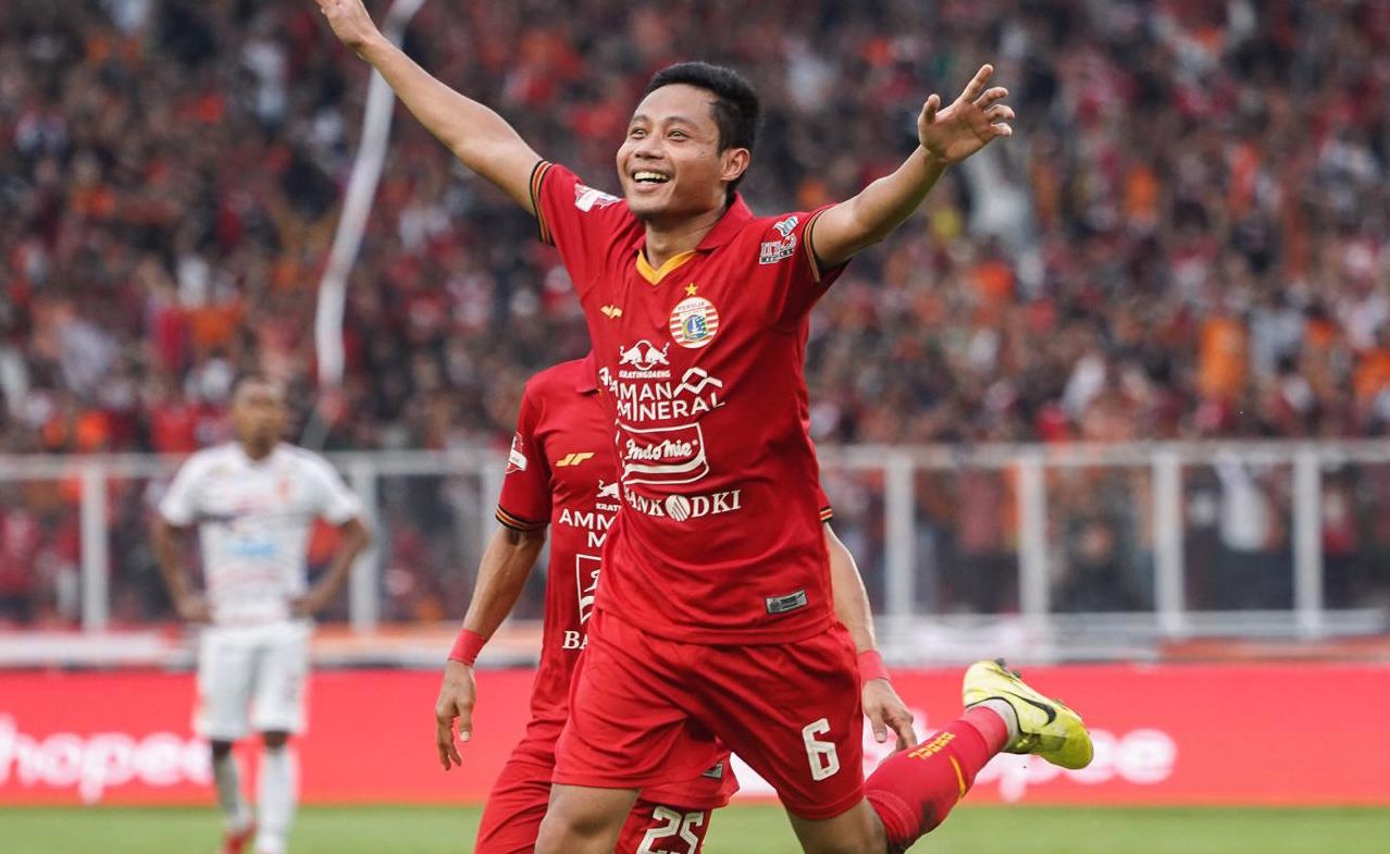 Debut Evan Dimas di Persija dengan sebiji gol | Foto via persija.id