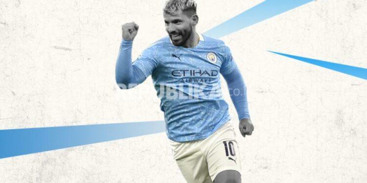 Penyerang Manchester City Sergio Aguero.