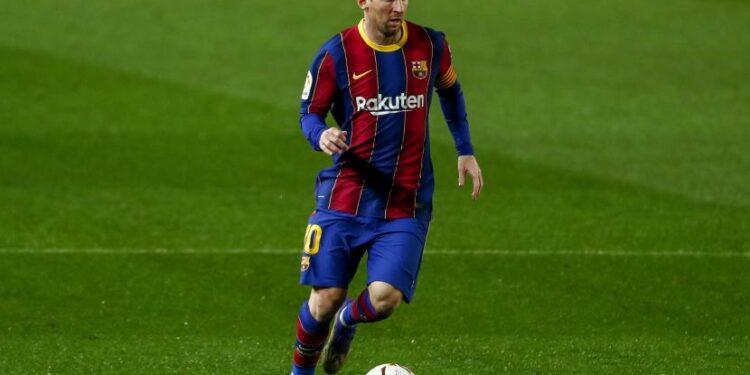 Pemain bintang Barcelona, Lionel Messi.