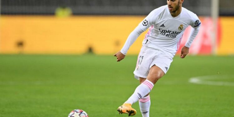 Gelandang serang Real Madrid Marco Asensio.