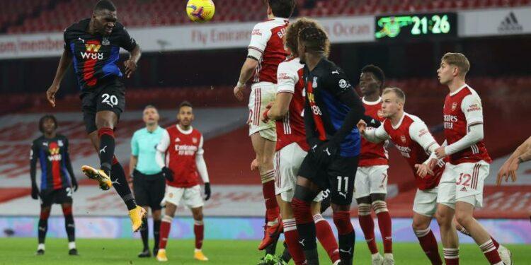 Arsenal Vs Crystal Palace yang bermain imbang 0-0 dalam laga pekan ke-18 Liga Inggris di Stadion Emirates, London, K