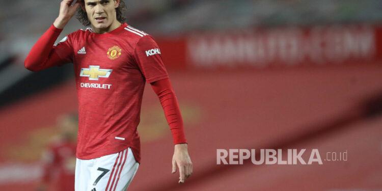 Penyerang Manchester United Edinson Cavani.