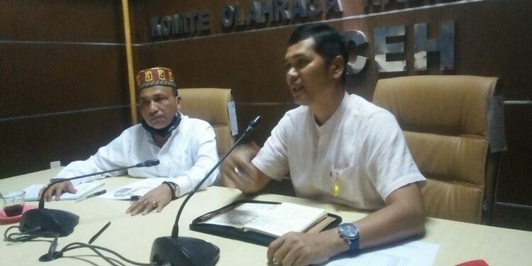 Ketua Harian dan Sekum KONI Aceh | Foto Ist