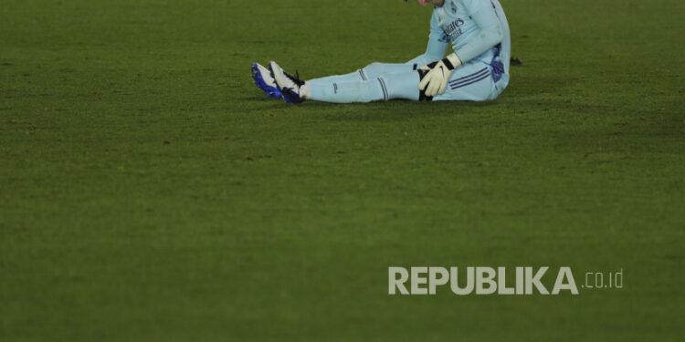 Penjaga gawang Real Madrid Thibaut Courtois