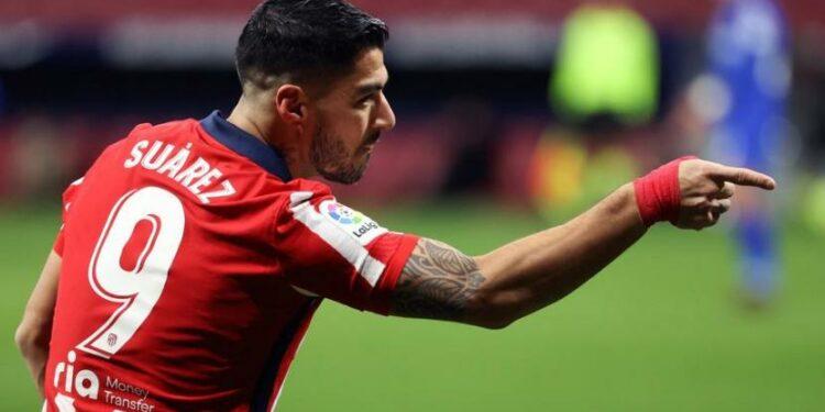 Penyerang Atletico Madrid Luis Suarez.