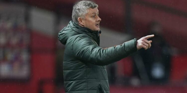 Pelatih Manchester United (MU) Ole Gunnar Solskjaer.