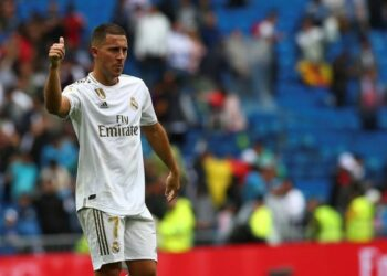 Gelandang Real Madrid Eden Hazard.