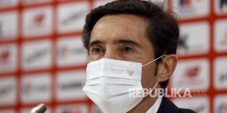 Marcelino Garcia Toral. The native Spanish coach attended the press conference during his presentation as the new head coach of Athletic Club de Bilbao, in Bilbao, Basque Country, Spanish, 05 January 2021. Toral signs his new contract until June 2022