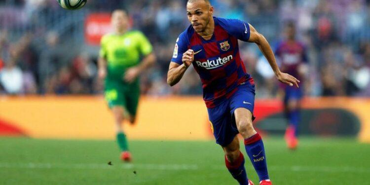 Striker Barcelona Martin Braithwaite.