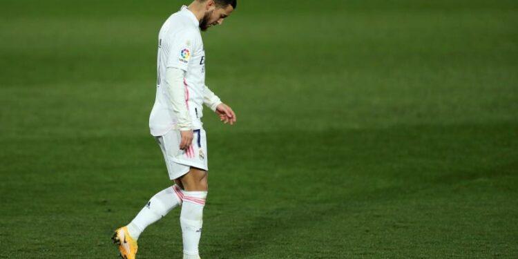 Penyerang Real Madrid, Eden Hazard.