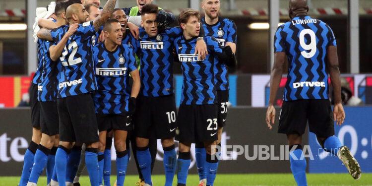 Para pemain Inter Milan (ilustrasi).