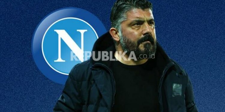 Pelatih Napoli Gennaro Gattuso.