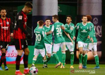 Catatan kemenangan beruntun Frankfurt berakhir di kandang Bremen