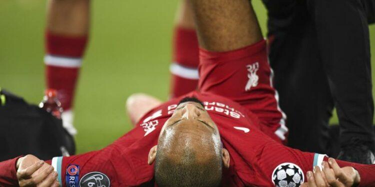 Gelandang Liverpool Fabinho.