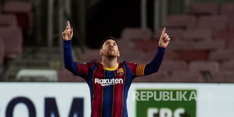 Striker FC Barcelona asal Argentina, Lionel Messi.