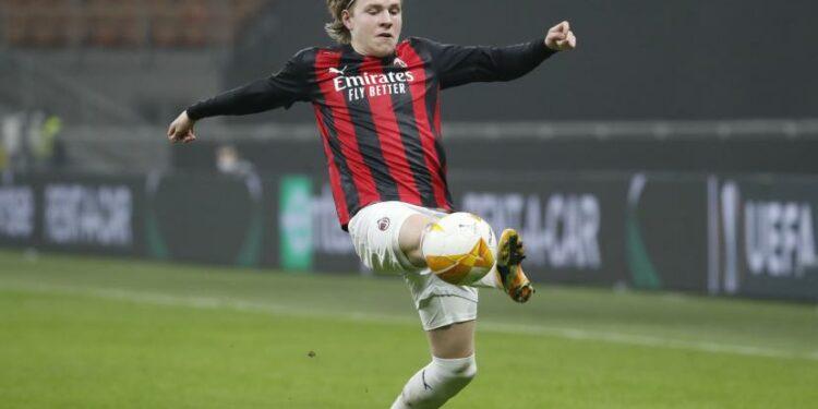 Winger AC Milan, Jens Petter Hauge.