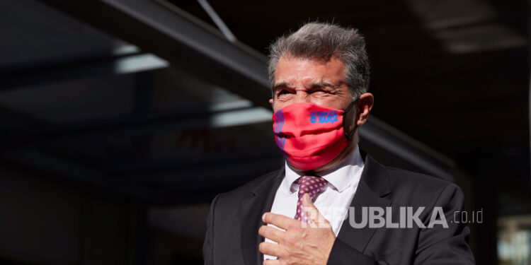 Kandidat presiden FC Barcelona Joan Laporta.