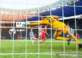 Leipzig pangkas jarak dengan Bayern berkat kemenangan di markas Hertha