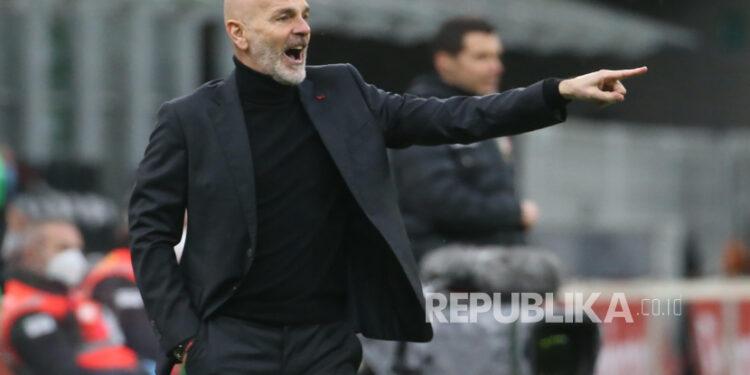 Manajer AC Milan Stefano Pioli.