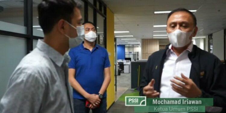 Raffi Ahmad sambangi PSSI dukung Piala Menpora