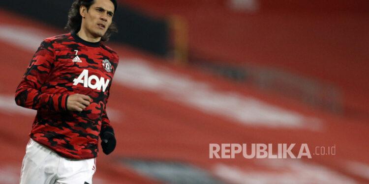 Striker Manchester United Edinson Cavani.