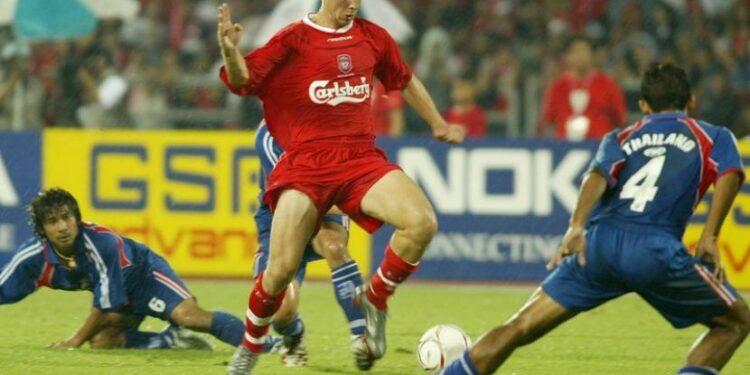 Gregory Vignal (tengah) sewaktu berseragam Liverpool.