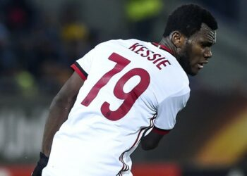 Gelandang AC Milan Franck Kessie.