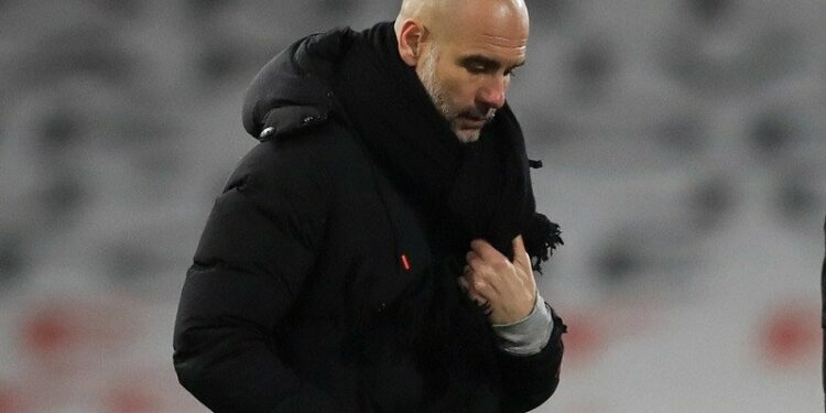 Guardiola sebut tak realistis bicarakan peluang caturgelar City