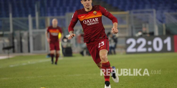 Pemain AS Roma Gianluca Mancini.