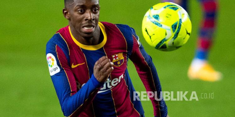 Gelandang serang Barcelona Ousmane Dembele.