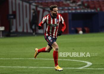 Gelandang Atletico Madrid Saul Niguez