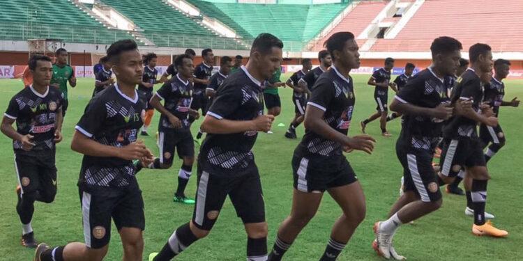 Skuat Persiraja uji coba lapangan Stadion Maguwoharjo, Sleman   Foto via Instagram Persiraja